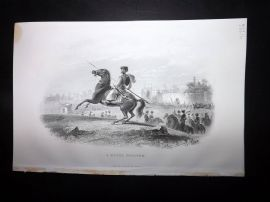 Nolan India C1880 Antique Print. A Mogul Trooper